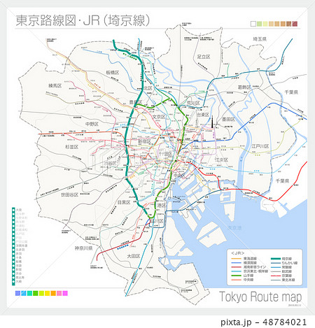 東京の路線図・JR(埼京線) 48784021
