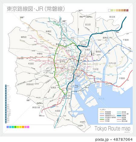 東京の路線図・JR(常磐線) 48787064
