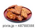 おかき 醤油おかき 煎餅の写真 48788388