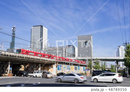 名古屋市都市風景 名駅通り 六反交差点からささしまイブ グローバルゲートと愛知大学を望む 48789350