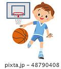 バスケ バスケットボール バスケットのイラスト 48790408