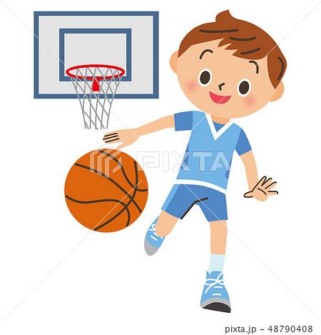 バスケをする男の子 48790408