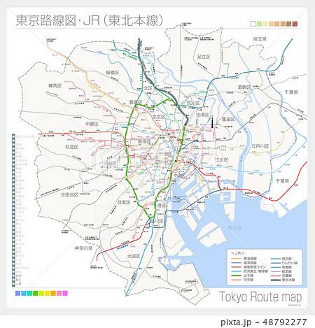 東京の路線図・JR(東北本線) 48792277
