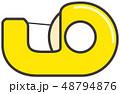 セロハンテープ 文具 文房具のイラスト 48794876