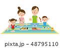 ピクニック お弁当 レジャーのイラスト 48795110