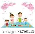 桜 家族 ベクターのイラスト 48795113