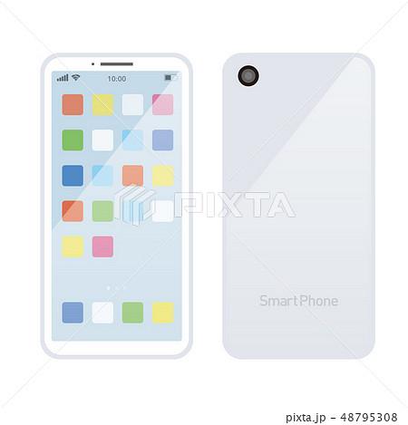 スマホ アプリ イラスト ベクター 白のイラスト素材 48795308 Pixta