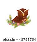 鳥 花 マンガのイラスト 48795764