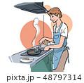 料理 調理 クッキングのイラスト 48797314