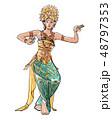 バリ島の踊り 48797353
