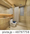 wood and tile design bathroom near window 48797758