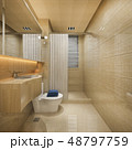 wood and tile design bathroom near window 48797759