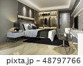 luxury modern bedroom suite tv with wardrobe 48797766