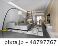 modern dining room and living room 48797767