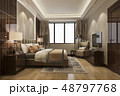 luxury bedroom suite in hotel with tv 48797768