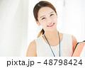 若い女性 女性 アジア人の写真 48798424