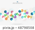 Abstract corporate tone colorful circle bubble 48798508