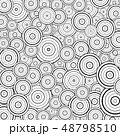 Abstract circle black line pattern design 48798510