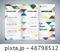Abstract colorful triangles pattern corporate of 48798512