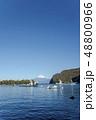 静岡県沼津市の西伊豆、戸田港から駿河湾越しに望む冬の富士山 48800966