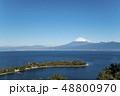 静岡県沼津市の大瀬崎(おせざき)から海越しの富士山の眺望 48800970