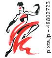 Flamenco. Beautiful Dancing Woman 48802723