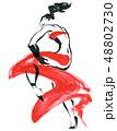 Flamenco. Beautiful Dancing Woman 48802730