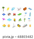 Cruise Ships Travel and Tourism Concept Icons Set 3d Isometric View. Vector 48803482
