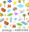 Cruise Ships Travel and Tourism Concept Seamless Pattern Background 3d Isometric View. Vector 48803488