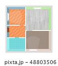Cartoon Apartment Floor Plan Top View. Vector 48803506