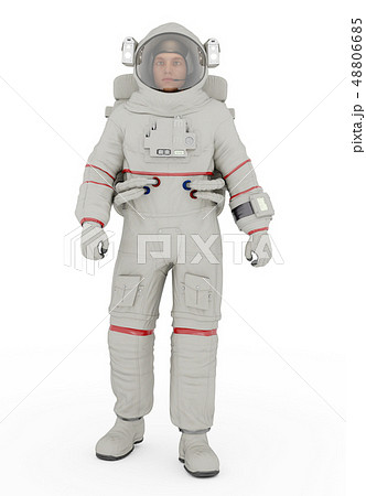 Astronaut against a white background 48806685