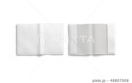 Blank white passport cover mockup, front and back, 48807008