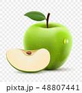 りんご アップル リンゴのイラスト 48807441