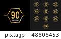 アニバーサリー 金色 黄金色のイラスト 48808453