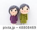 人形 シニア 夫婦の写真 48808469