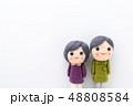 人形 シニア 夫婦の写真 48808584