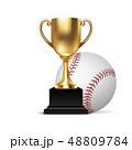 ベースボール 白球 野球のイラスト 48809784