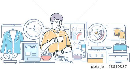 Good morning - modern line design style illustration 48810387