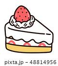 ショートケーキ ケーキ お菓子のイラスト 48814956