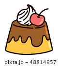 プリン プディング 洋菓子のイラスト 48814957