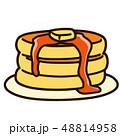 ホットケーキ パンケーキ デザートのイラスト 48814958