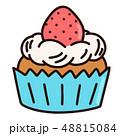 カップケーキ ケーキ お菓子のイラスト 48815084