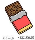 チョコレート チョコ 板チョコのイラスト 48815085