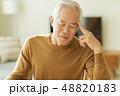 男性 シニア 頭痛の写真 48820183