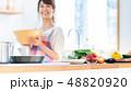 キッチン 台所 食材の写真 48820920