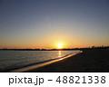 東京湾 臨海地区に沈む夕陽 48821338