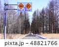 道路標識 路面凹凸あり 幅員減少 48821766