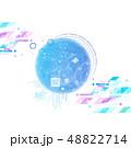 デジタル サイバー ネットワークのイラスト 48822714