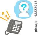 電話 非通知 着信のイラスト 48822918