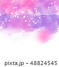 音楽 楽譜 譜面 五線譜 音符 ト音記号 ミュージック 48824545